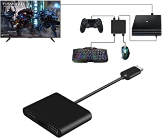 コンパクトキーボードマウス変換アダプタ  Nintendo Switch用マウス キーボード接続用アダプタ   PS4用マウス キーボードコンバーター FPS、TPS、RPG と RTSのゲームに操作性アップ PS4/PS4 Slim/PS4...