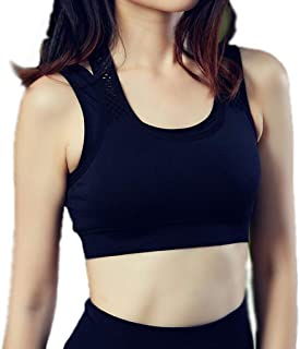 Fitness Sports Underwear-Comfortable Breathable Professional Running Yoga Bra Non-Wired Full Cutout Beauty Back (Color : B...