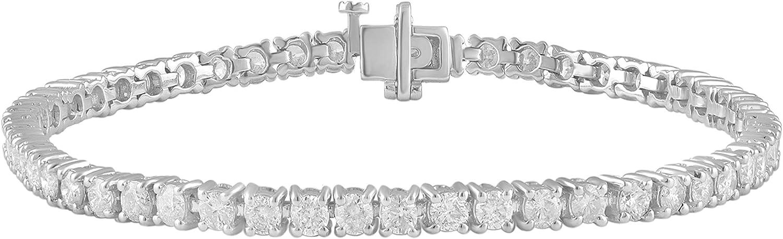2.00 -15.00 Carat Diamond, Tennis Bracelet (J-K, I2-I3) 14K Whit