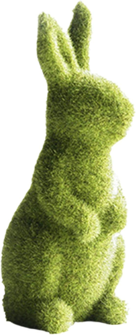 ICNGLKSND Easter Challenge the latest lowest price Moss Bunny Figurines Green Rabbit Ta
