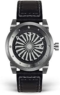Luxury Men's Blade Wrist Watch - Premium Italian Leather Watch Band - 44mm Turbine Watch - Automatic Movement