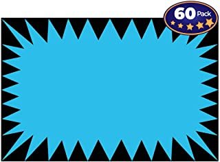 Retail Genius Price Burst 60 Blue Sign Pack. Boost Sales with Bright Display Tags. Durable, Easy to Write On Star Cards Are For Yard, Estate & Garage Sale, Fundraiser, Store, Business & Flea Market.