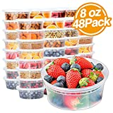 Glotoch 8oz Plastic Containers with Lids- Leakproof Slime,Deli, Food Storage,Soup,Meal Prep...