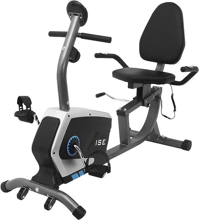 Cyclette ise con sella regolabile sensori di pulsazione integrati, regolabile resistenza,max.120 kg,silenziosa SY-6801