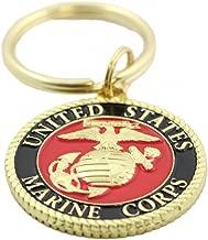 EEC, Inc. US Marine Corps Logo Keychain Patriotic Key Ring Military Gift Men Women Veteran,Red,1 1/2