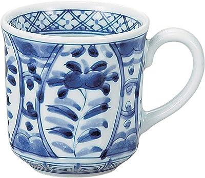 山下工芸 マグカップ 磁器 φ8.4×8.8cm(310cc) 間取藍花マグカップ 15055410