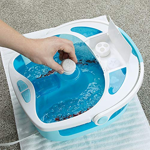 HoMedics Shower Bliss Foot Spa, Shower massage water jets, Pedicure center with 3 attachments, Toe-touch control, FB-625H