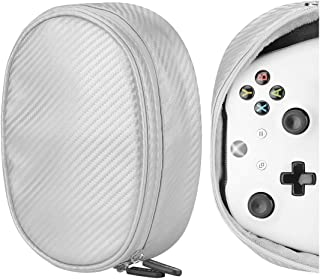 Geekria Controllers Carrying Pouch Travel Bag, Compatible with google Stadia Cloud Gaming Platform, Sony PlayStation 4 Wireless, PS4, Xbox Wireless, Nintendo Switch Pro, Portable Protector (Silver)