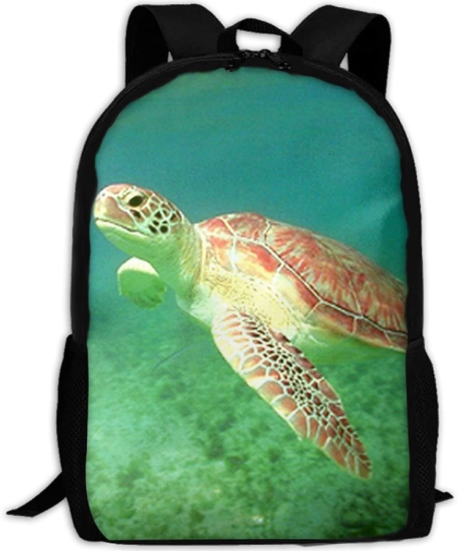 Turtle Grün Sea Ocean Underwater Animal 3D Print Backpack College School Laptop Bag Daypack Travel Shoulder Bag for Unisex B07Q27JLLY  Heißer Verkauf