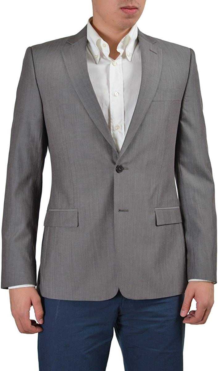 Versace Collection Wool Linen Gray Two Buttons Men's Blazer US 38 IT 48