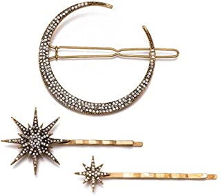 Details about  /Flower Moon Crystal Barrette Pin Hair Accessories Holder Hairpin Hair Slide Clip