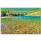 Francia Pont Du Gard Rompecabezas para Adultos, 1000 Piezas de Madera, Regalo de Viaje, Recuerdo, 30x20 Pulgadas
