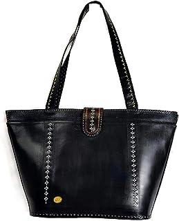 Tarini Womens large Tote tooled leather shoulder bag