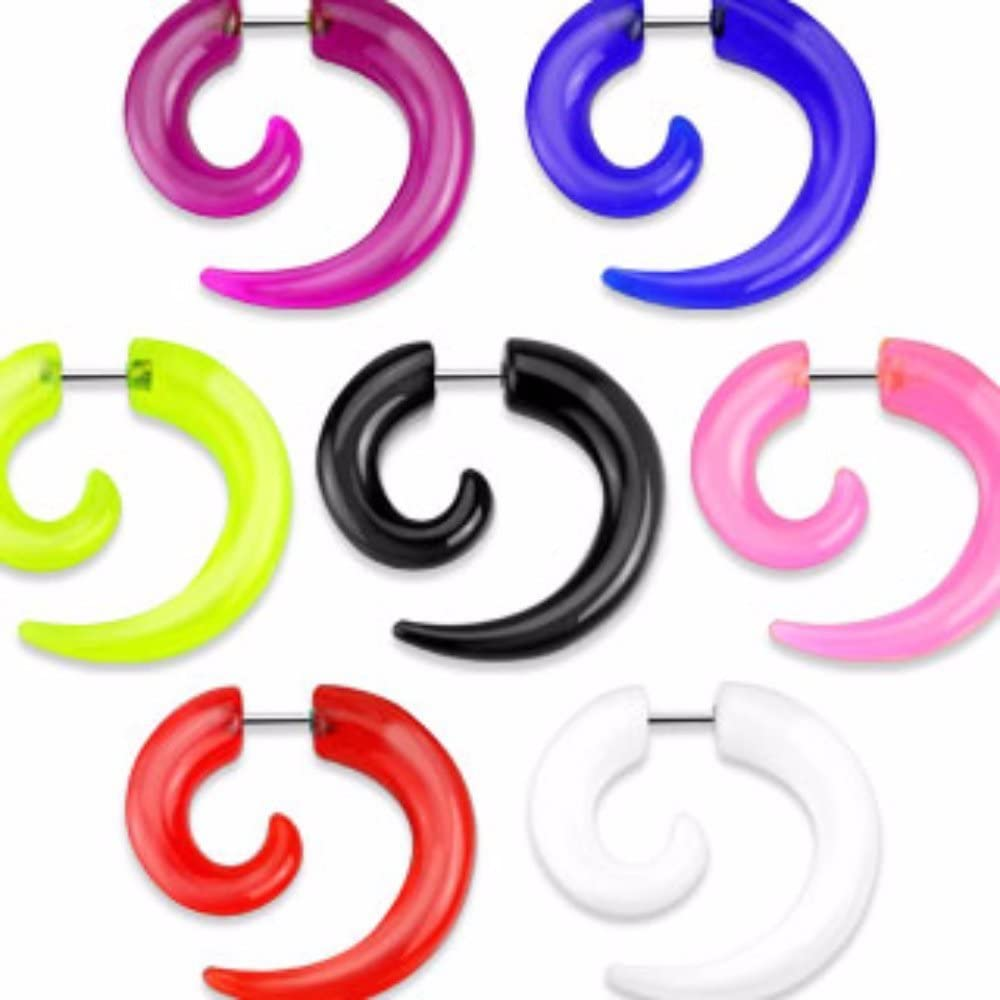 Covet Jewelry Spiral Solid Acrylic Fake Taper