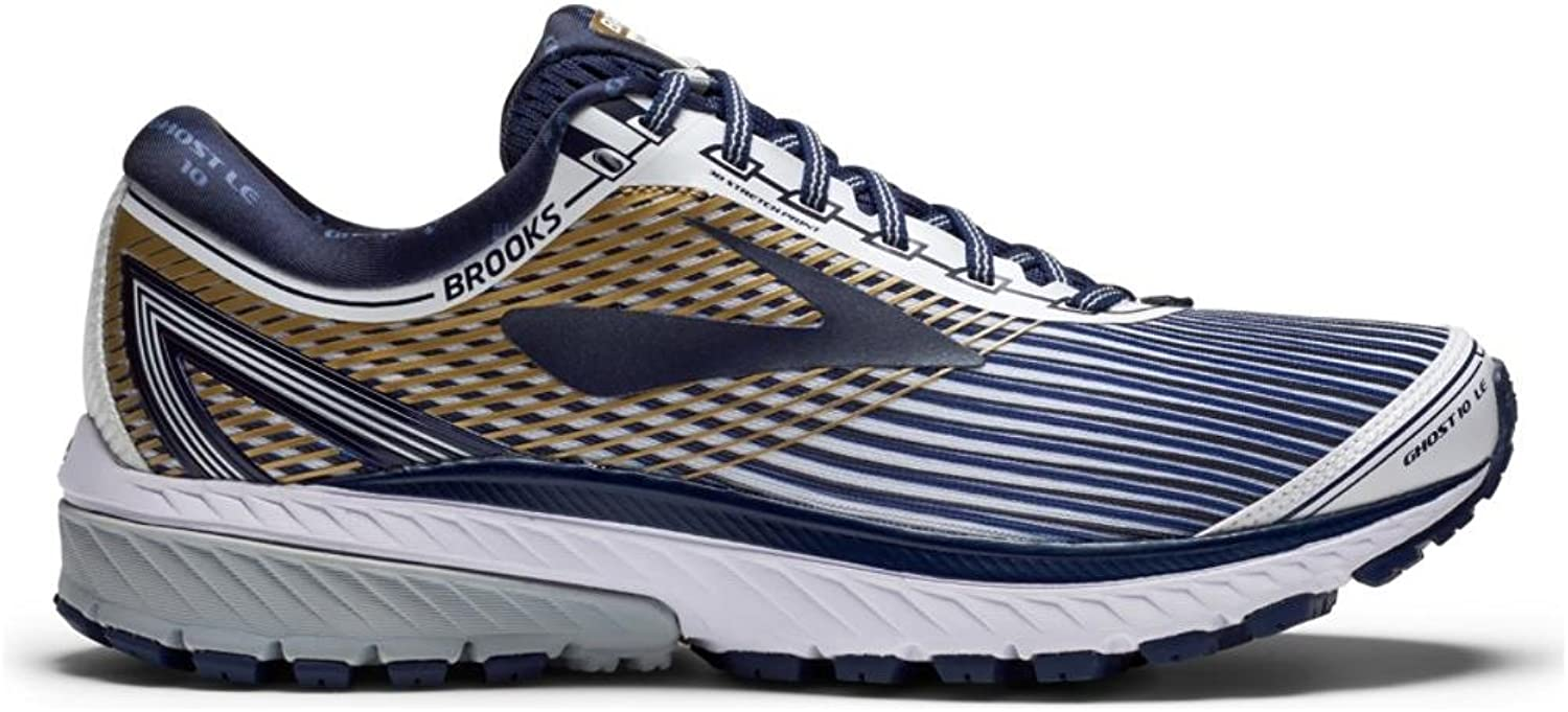 Brooks Men's Ghost 10 bianca Navy oro 9.5 D US