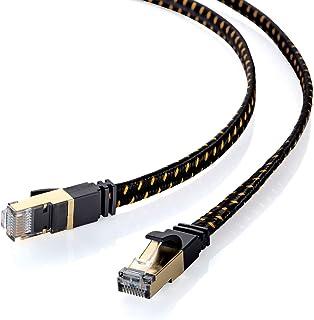 サンワサプライ LANケーブル CAT8 メッシュフラット 40/25Gbps/2000MHz ギガビット イーサネットケーブル RJ45コネクタ ツメ折れ防止 (0.5m) ブラック KB-T8MEFL-005BK