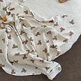 UKKO Bedsure Mantas para Sofás de Franela Autumn Blankets Bear Print Cotton Blanket Casual Sleeping Blanket
