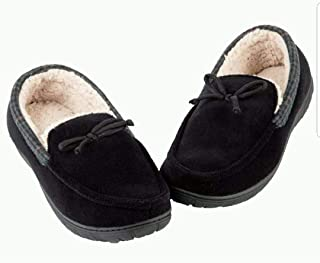 Toasties Men's Memory Foam Slippers Moccasin Black