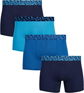 U.S. Polo Assn. Men's Underwear – Cotton Boxer Briefs (4 Pack)
