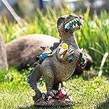 Dinosaurier Essen Zwerge Gartenstatuen, Gartenzwerg Statue, Outdoor Garten Kunst Figur Dekor, Garten Skulptur für Patio, Rasen, Hof Dekoration, Einweihungsparty Geschenk