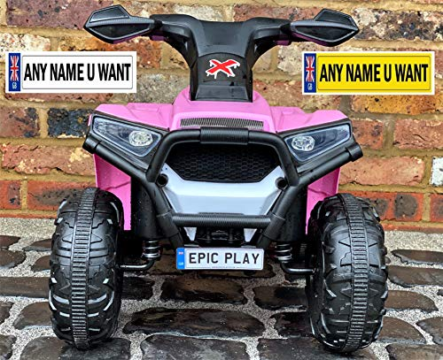 Small Kids Private Personalised Registration Number Plates for Ride on cars or Jeeps (this is a not a sticker)
