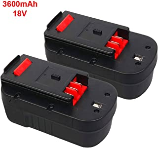 2Pack 3.6Ah 18Volt HPB18 Replacement Battery for Black and Decker 18V HPB18 HPB18-OPE 244760-00 A1718 FS18FL FSB18 Firestorm Batteries