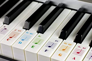 kiniza Piano Keys Stickers, Removable Key Notes Stickers for
