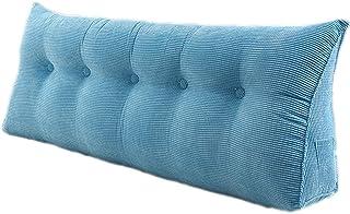 Almohada de cuña de Cama Diseño Curvo único para Uso en múltiples Posiciones Almohada de cuña de Espuma viscoelástica para Dormir (Color : Blue, Size : 200 * 50cm)