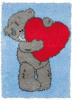 Mirui Crochet de loquet Kits de Tapis de Broderie Bricolage imprimé avec Charmant Ours Décoration Shaggy Crochet Crochet p...