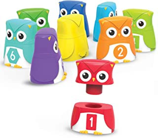 Learning Resources Snap-n-Learn Rainbow Color, Shape, Number Owls, Ages 18 Mos+