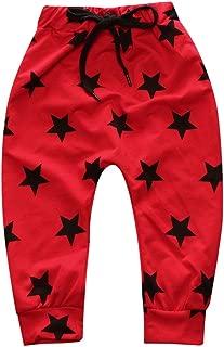 Kids Tales Boys Girls Cotton Joggers Cozy PP Pants Start Pattern Harem Pants