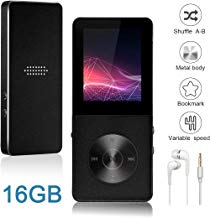 $29 » Mp3 Player, Widon 16GB Mp4 Player up to 64GB Metal Body Built-in Speaker Headphones Shuffle A-B Playback Bookmark for Audio Books - FM Radio Voice Recorder Gift for Kids Language Learning Black 4
