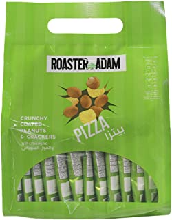 Roaster Adam Crunchy Coated Peanuts and Crackers, Pizza Flavor, 12 x 13 gm