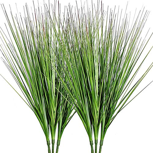 """27"""" Artificial Plants Onion Grass Greenery Faux Fake Shrubs Plant Flowers Wheat Grass for House Home Indoor Outdoor Office Room Gardening Indoor Décor 6 Pack"""