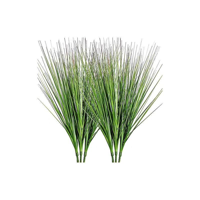 """silk flower arrangements 27"""" artificial plants onion grass greenery faux fake shrubs plant flowers wheat grass for house home indoor outdoor office room gardening indoor décor 6 pack"""
