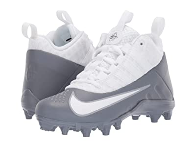 Nike Kids Alpha Huarache 6 Lacrosse (Little Kid/Big Kid) (Cool Grey/White/Wolf Grey) Kids Shoes