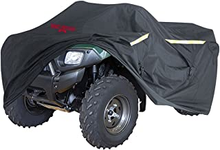 Badass Moto Ultimate ATV Cover Waterproof Heavy Duty 4 Wheeler Cover - Industrial Grade Water Proof Quad Cover, Taped Seams, Vents, Trailerable, Night Reflective, Zipper Tank Access, LARGE 95