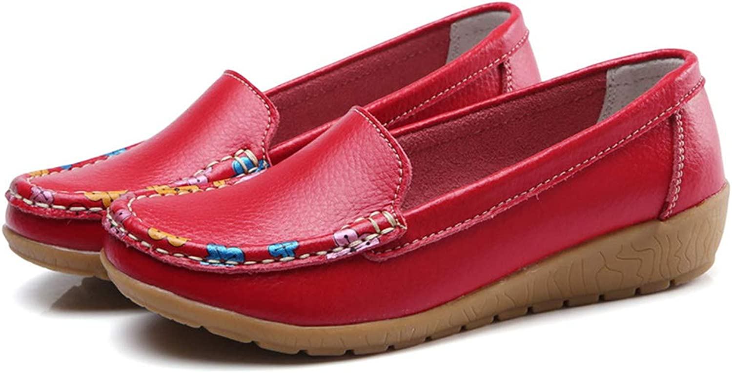 Kyle Walsh Pa Women Leather Flats Comfortable Footwear Moccasins Spring Autumn Female shoes