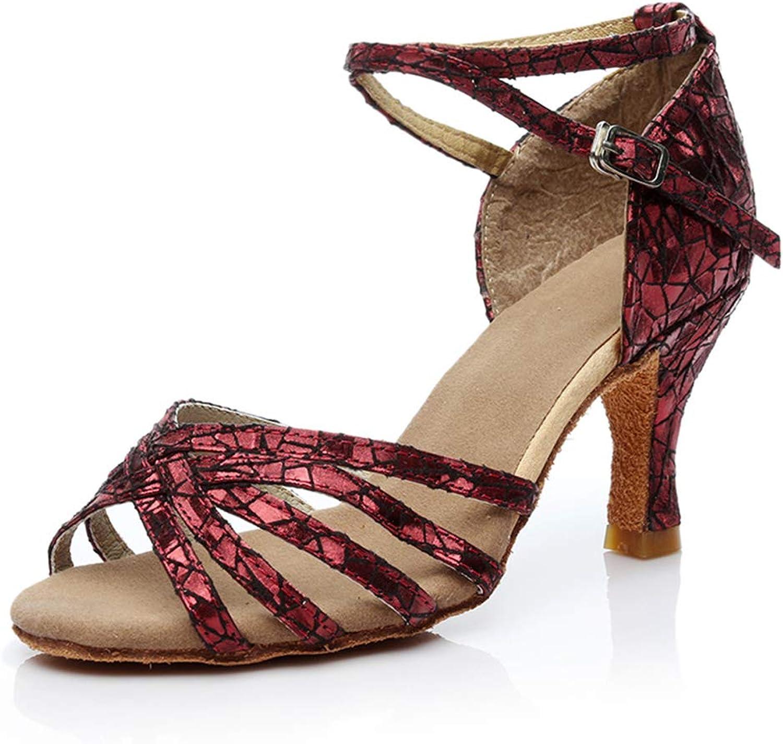 Brilliant sun Women's Ballroom Latin Salsa Performance Dance shoes