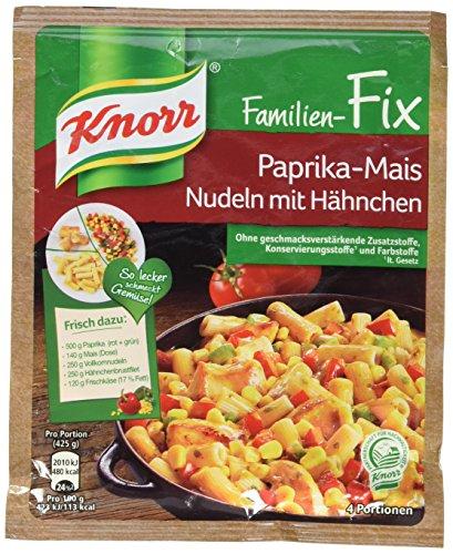 Knorr Fix Paprika-Mais Nudeln mit Hähnchen 4 Portionen