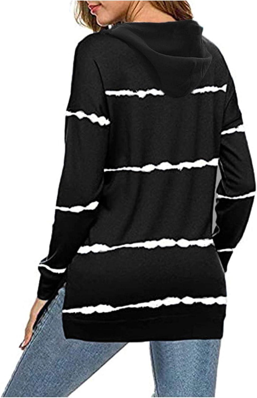 Womens Sweatshirts,Women Aesthetic Sweatshirts Long Sleeve Lightweight Zip Up Trendy Striped Graphic Vintage Pullover
