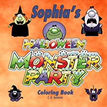 Sophia's Halloween Monster Party Coloring Book