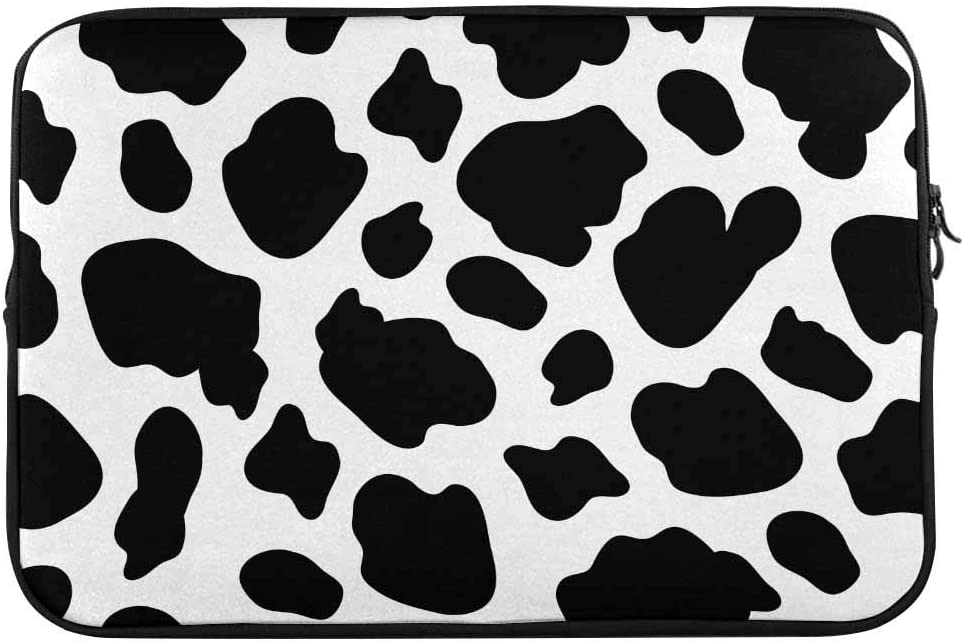 INTERESTPRINT 11 Inch 11.6 Inch Laptop Carrying Case Cover Cow Skin Pattern Notebook Computer Sleeve Bag