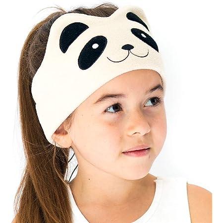 CozyPhones Over The Ear Headband Headphones - Kids Headphones Volume Limited with Thin Speakers & Super Soft Stretchy Headband - Ivory Panda