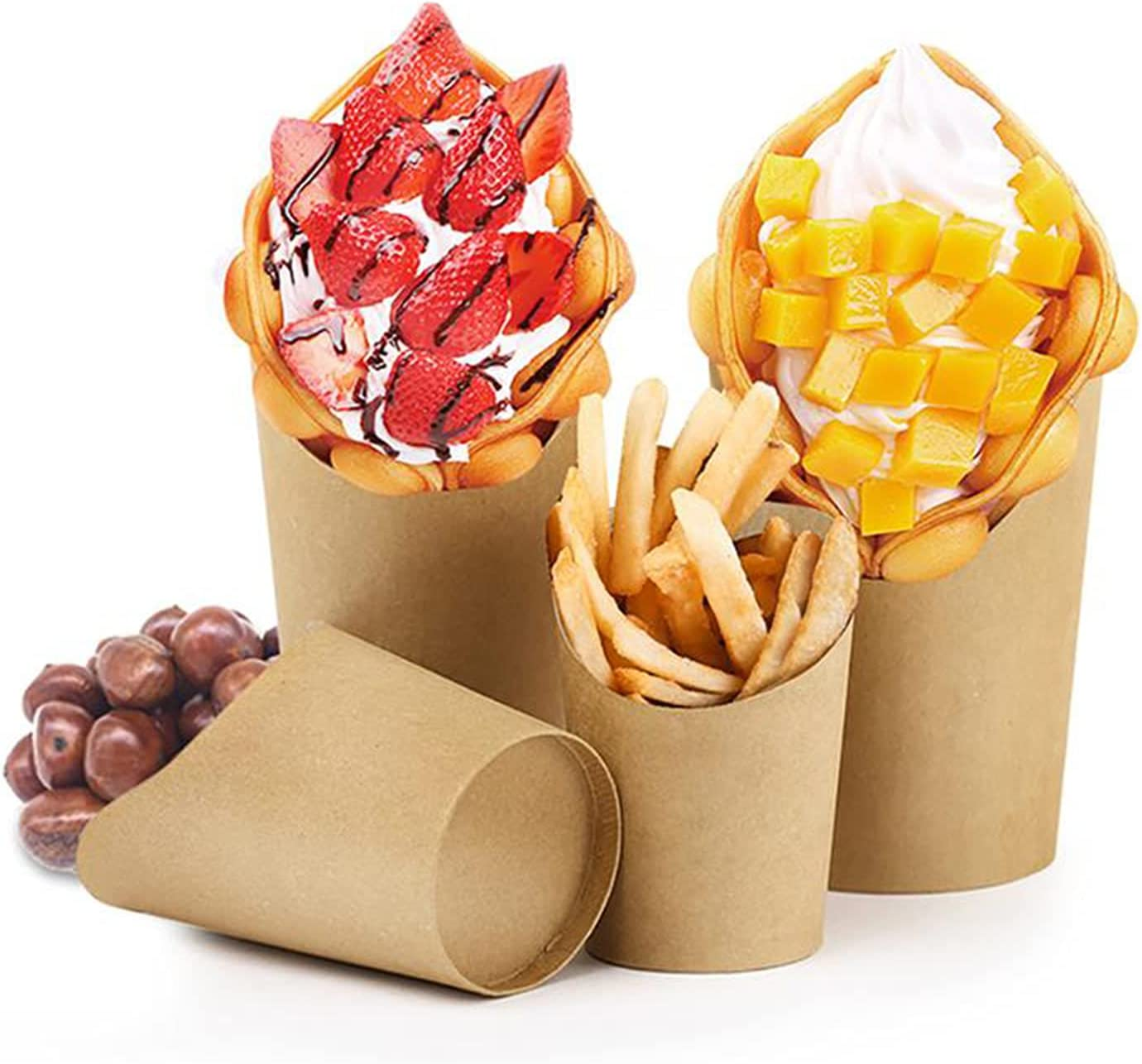DIMUKEASAOL 14Oz French Fries Cup Sale SALE% OFF We OFFer at cheap prices Holder Fry Disposable