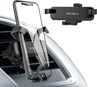 Car Cell Phone Holder, Gravity Car Phone Mount Air Vent Universal Car Phone Holder Compatible for iPhone Xs MAX/XR/X/8/7/6, Galaxy S10/S10 Plus/S10e/S8/S7(Black)