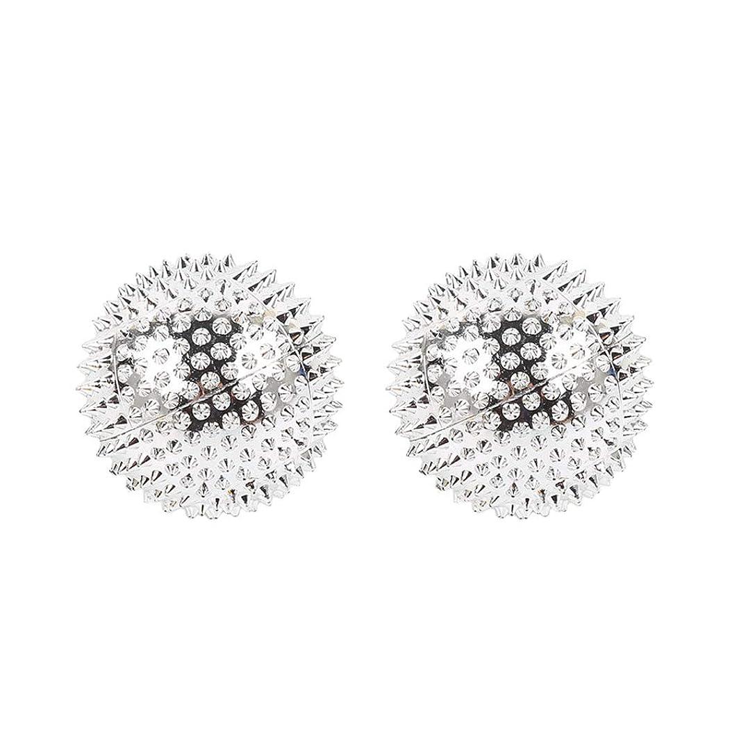 飛躍シンボル東部HEALIFTY 2本スパイシーマッサージボール磁気感覚ボールAcupointsヨガボールフィットネスボールを攪拌