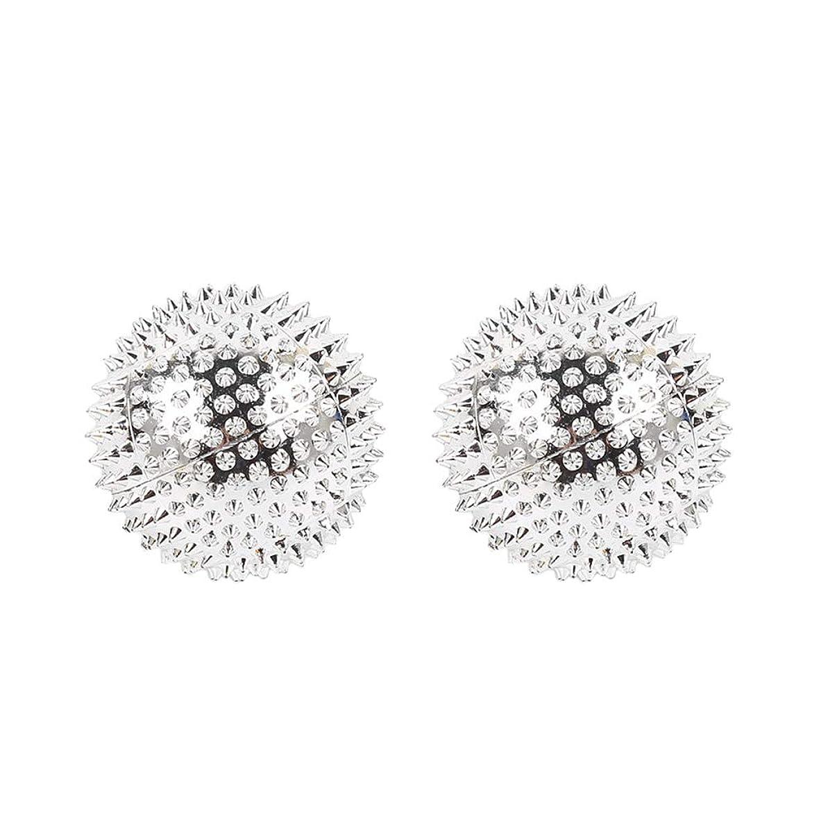 不一致表現おHEALIFTY 2本スパイシーマッサージボール磁気感覚ボールAcupointsヨガボールフィットネスボールを攪拌