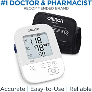OMRON Silver Blood Pressure Monitor, Upper Arm Cuff, Digital Bluetooth® Blood Pressure Machine, Stores Up to 80 Readings
