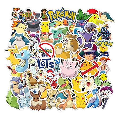 Diverse Pokemons Stickers Voor Bagage Skateboard Telefoon Laptop Moto Fiets Muur Gitaar Sticker Diy Waterdichte Sticker 50 stks